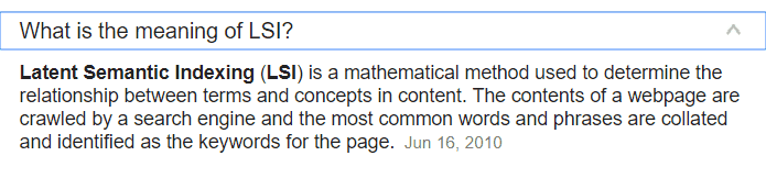 lsi latent semantic index content meaning