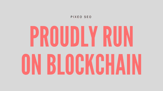 proudly run on blockchain